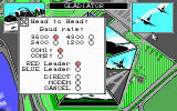 F-16 Combat Pilot DOS Setup screen for multiplayer duels.