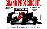 Grand Prix Circuit Amstrad CPC Title Screen