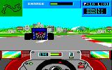 Grand Prix Circuit Amstrad CPC Chasing other cars...