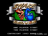 Snake Rattle N Roll Genesis Title screen and main menu