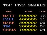 Snake Rattle N Roll Genesis Top scores