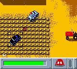Matchbox: Emergency Patrol Game Boy Color Chasing a baddie through a cornfield.