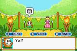 Mario Party Advance Game Boy Advance Peach practicing her dancing skills.
