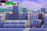 Robotech: The Macross Saga Game Boy Advance Enemies attacking from the ground and the air.