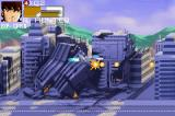 Robotech: The Macross Saga Game Boy Advance A destroyed city on the background