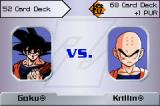 Dragon Ball Z Collectible Card Game Game Boy Advance A game between Goku and Krillin