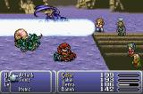 Final Fantasy III Game Boy Advance Sabin using a Blitz technique.