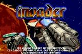 Invader Game Boy Advance Title screen