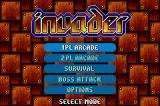Invader Game Boy Advance Select what mode of game you wish to play.