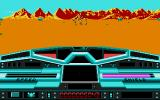 Moon Blaster DOS Blasting the enemy on the Sand Moon (VGA)