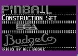 Pinball Construction Set Atari 8-bit Title screen