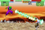 Dragon Ball Z: Supersonic Warriors Game Boy Advance Picolo using his Super Beam to defeat Dr. Gero.