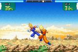 Dragon Ball Z: Supersonic Warriors Game Boy Advance Goku fighting Majin Vegeta.