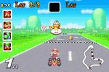 Mario Kart Super Circuit Game Boy Advance First at finishing line