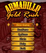 Armadillo Gold Rush BREW Main menu
