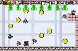 Mario Party-e Game Boy Advance Waluigi's Reign: avoid the hammers, collect the coins!