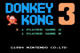 Donkey Kong 3 Game Boy Advance Title screen