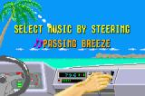 SEGA Arcade Gallery Game Boy Advance Outrun: choose what music you want to listen to.