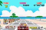 SEGA Arcade Gallery Game Boy Advance Outrun: there is a large crowd waiting at the start line.