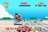 SEGA Arcade Gallery Game Boy Advance Outrun: going too fast around the corner results in you coming off the road.