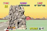 SEGA Arcade Gallery Game Boy Advance Outrun: hitting these massive stone heads doesn't do the paintwork any good.