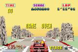 SEGA Arcade Gallery Game Boy Advance Outrun: game over