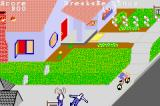 PaperBoy / Rampage Game Boy Advance Paperboy: hitting one of the guys with a paper knocks him down.