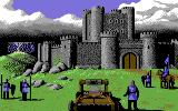 Defender of the Crown Commodore 64 Attacking a Saxon castle.