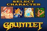 Gauntlet / Rampart Game Boy Advance Gauntlet: select your character.