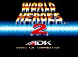 World Heroes 2 Neo Geo Title screen