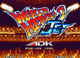 World Heroes 2 JET Neo Geo Title screen