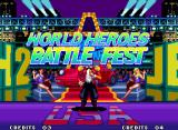World Heroes 2 JET Neo Geo Here's the standard Tournament mode entry.