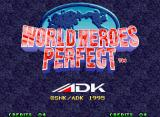 World Heroes Perfect Neo Geo Title screen