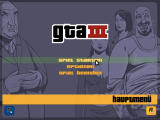 Grand Theft Auto III Windows Main menu