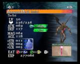 Castlevania: Curse of Darkness PlayStation 2 Innocent Devil menu: Here you can see it's abilities and stats