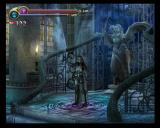 Castlevania: Lament of Innocence PlayStation 2 Leon standing in a save room.
