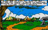 Asterix and the Magic Carpet Atari ST Gaul's village in the distance is the first place the game will show...Introduction story is told as well...(French version)