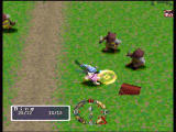 Blaze & Blade: Eternal Quest Windows Fighting two at the same time. Defeated monsters turn into various objects, such as the chest in this case