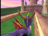 Spyro the Dragon PlayStation Spyro looks at the tower