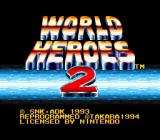 World Heroes 2 SNES Title screen.