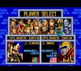 World Heroes 2 SNES Fighter selection.