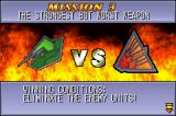 Mech Platoon Game Boy Advance Each time you begin a mission you get a winning and a losing condition.