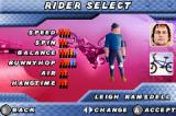 Dave Mirra Freestyle BMX 2 Game Boy Advance Rider select