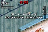 Dave Mirra Freestyle BMX 2 Game Boy Advance Completing an objective.