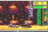 Comix Zone Game Boy Advance Low kicking some weird creature.