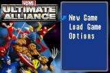 Marvel Ultimate Alliance Game Boy Advance Title screen