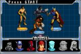 Marvel Ultimate Alliance Game Boy Advance Selecting the characters you'll use on the mission