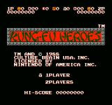 Kung-Fu Heroes NES Title screen