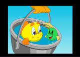 Freddi Fish 3: The Case of the Stolen Conch Shell Windows Freddi & Luther fly!
