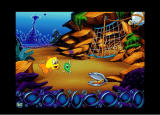 Freddi Fish 3: The Case of the Stolen Conch Shell Windows Freddi asks Luther what the letters U-R-C-H-I-N spell!